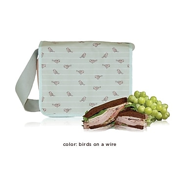 (eco) Blue Avocado Cafe Tote, Green Birds