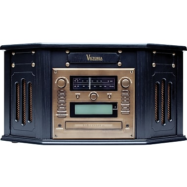 Victoria Tunewriter IV, 5-in-1 Entertainment Center with built-in CD Burner, Ebony