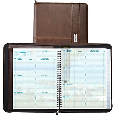 2014 Day-Timer® Weekly Coastlines® Notebook Organizer, 8 1/2in. x 11in.