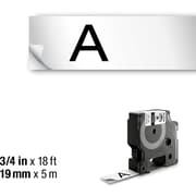 DYMO RHINO 3/4 x 18' WHITE VINYL LABEL TAPE
