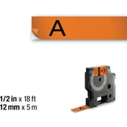 DYMO RHINO 1/2 x 18' ORANGE VINYL LABEL TAPE
