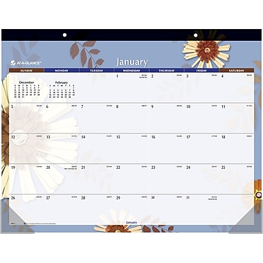 "2014 AT-A-GLANCE® Paper Flowers Desk Pad, 22"" x 17"""