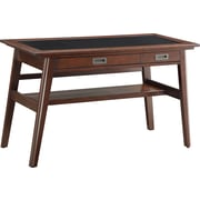 Inspired by Bassett Evans Writing Desk, Umber Finish Wood with Black Glass Inlay