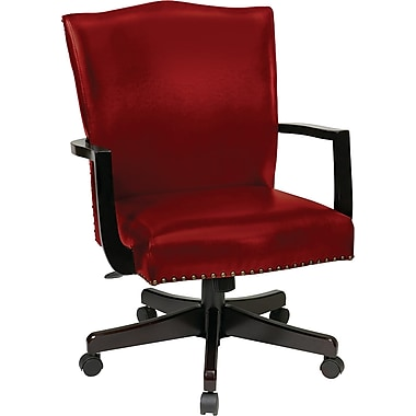 Inspired by Bassett Morgan Manager's Chair, Crimson Red Eco Leather