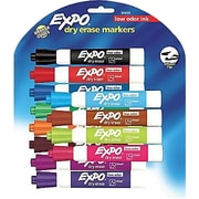 Expo® Low Odor Chisel Tip Dry-Erase Markers, Assorted, 12/Pack