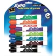 Expo® Chisel Tip Dry-Erase Markers, Assorted, 12/Pack