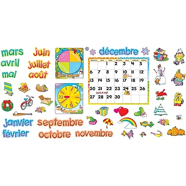 TREND - Ensemble de babillard avec calendrier mensuel en français