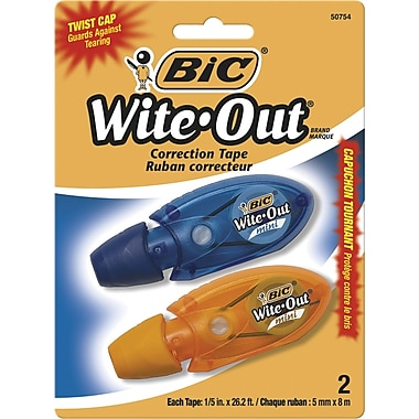 BIC® Wite-Out Micro Correction Tape, 2/Pack