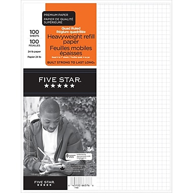 Five Star® Refill Paper, Quad 4:1