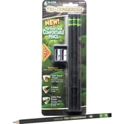 Ticonderoga Tri-Conderoga Black Pencils with Bonus Manual Pencil Sharpener, 6/Pack