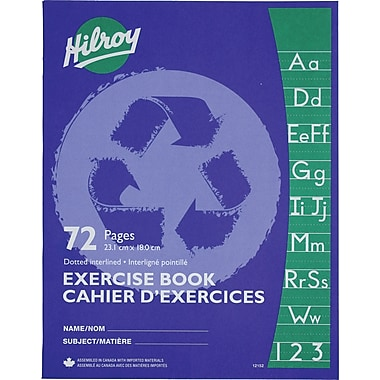 Hilroy Exercise Book Interlined Recycled, 9-1/8