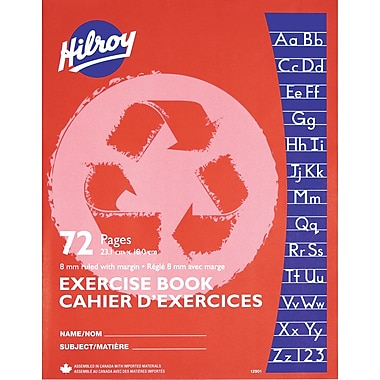 Hilroy Exercise Book 8mm Ruling Recycled, 9-1/8