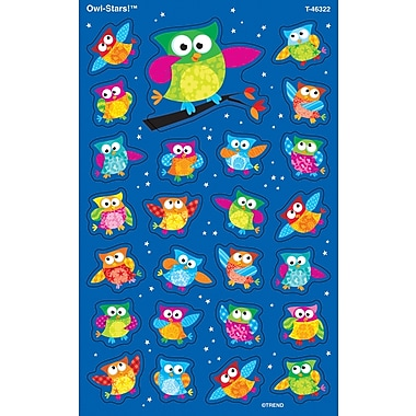 TREND Owl-Stars!™ superShapes Stickers-Large