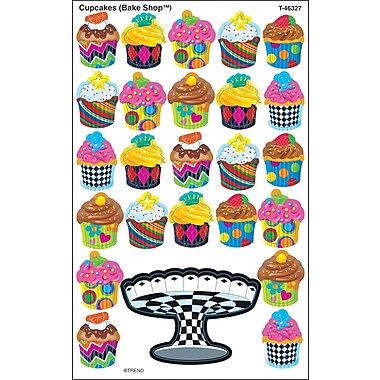 TREND Cupcakes (The Bake Shop™) superShapes Stickers-Large