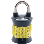 Dudley 4-Letter Vertical Set-your-own Combination Lock