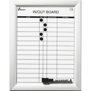 "Skilcraft In-Out Dry Erase Board, Aluminum Frame, 11""W x 14""H"
