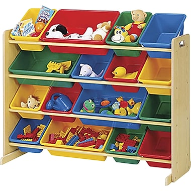 Tot Tutors Super-Sized Organizer, Natural with Primary Bins