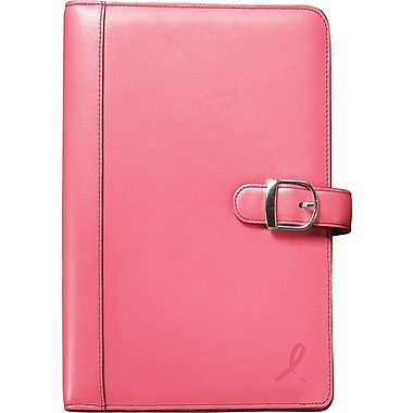 Day-Timer® Pink Ribbon Collection Starter Set, Snap-Tab Closure, Portable Size
