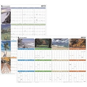 "2014 AT-A-GLANCE® ""Seasons in Bloom"" Vertical/Horizontal Erasable Wall Planner, 36"" x 24"""