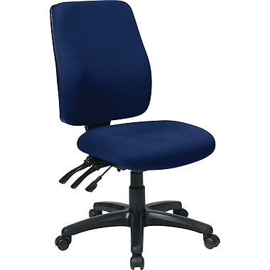 Office Star WorkSmart™  FreeFlex® Fabric High Back Ergonomic Task Chair with Ratchet Back, Navy