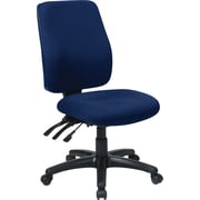 Office Star 33340-225 Work Smart Fabric High-Back Armless Task Chair, Navy