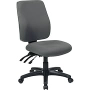 Office Star 33340-226 Work Smart Fabric High-Back Armless Task Chair, Gray