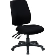 Office Star 33340-231 Work Smart Fabric High-Back Armless Task Chair, Black