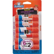 Elmer's School Glue Stick, Purple 6+2 Pack