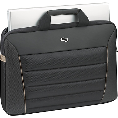 Solo Exclusives Collection Pro 16in. Briefcase, Black/Orange