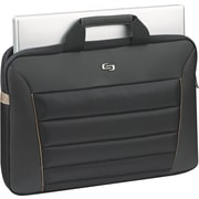 Solo Exclusives Collection Pro 16 Briefcase, Black/Orange