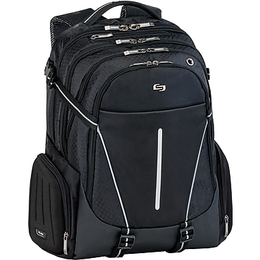Solo Exclusives Collection Active 17.3in. Backpack, Black/Grey