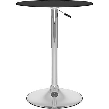 CorLiving™ Adjustable Bar Table, Black Leatherette