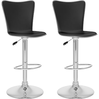 CorLiving™ Tall Curved Back Adjustable Bar Stool