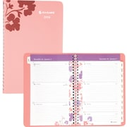 2014 AT-A-GLANCE® Wandering Bloom Desk Weekly/Monthly Appointment Book, 5 1/2 x 8 1/2