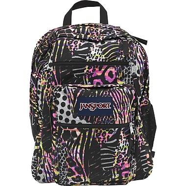 Jansport Big Student Backpack,  Pink Pansy Safari