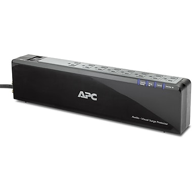 APC® 8-Outlet 2525 Joules Premium Audio/Video Surge Protector with Coax Protection, 6'