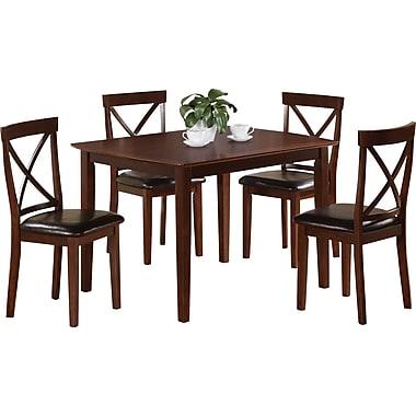 Monarch Birch Veneer 5 Piece Dining Set, Dark Cappuccino