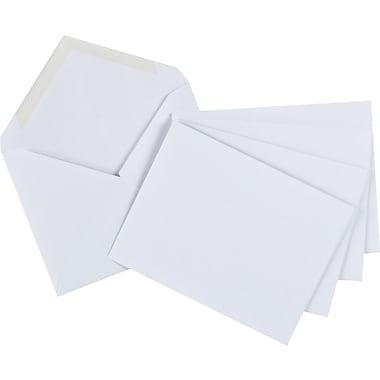 Staples® – Enveloppes d'invitation blanches, 4 3/8 po x 5 3/4 po, bte/50 - go