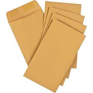 Staples® Envelopes Kraft Coin #6, 3-3/8