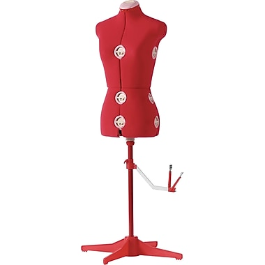 Singer 151 Adjustable Dressform, Large, Red