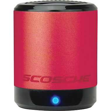 Scosche boomCAN Portable Media Speaker, Red