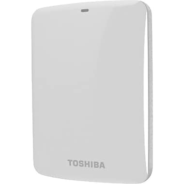 Toshiba Canvio® Connect 1TB Portable Hard Drive (White)