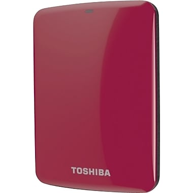 Toshiba Canvio® Connect 1TB Portable Hard Drive (Red)