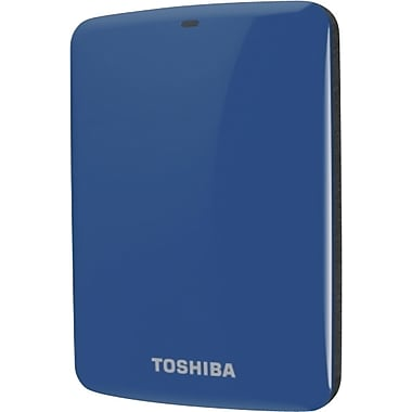 Toshiba Canvio® Connect 1TB Portable Hard Drive (Blue)