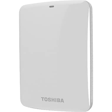 Toshiba Canvio® Connect 500GB Portable Hard Drive (White)