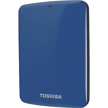 Toshiba Canvio® Connect Portable Hard Drive, 500GB, Blue