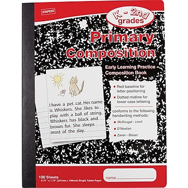 Staples® Primary Composition Book, 9 3/4in. x 7 1/2in.