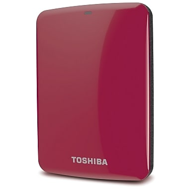Toshiba Canvio® Connect 500GB Portable Hard Drive (Red)