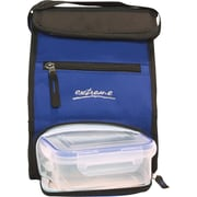 Blue Lunch Bag with Food Container