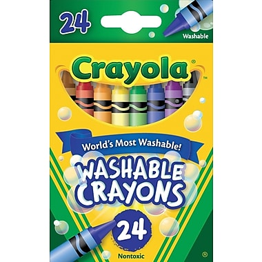 Crayola®  Washble Crayons, 24/Pack
